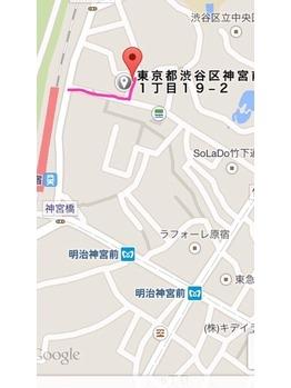 sherryへの行き方1 原宿駅から竹下通りの最短ルート