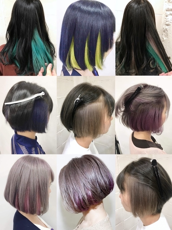 紫 系 髪 色
