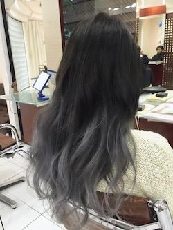 黒髪 毛先 カラー