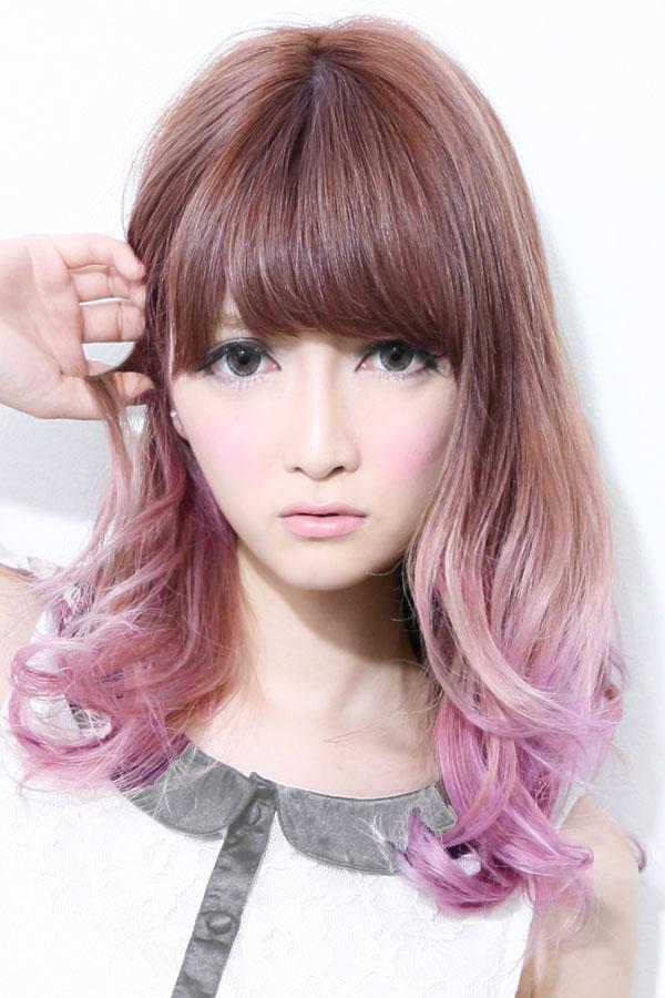 ピンクグラデーションカラー☆ホワイトピンク☆sherry