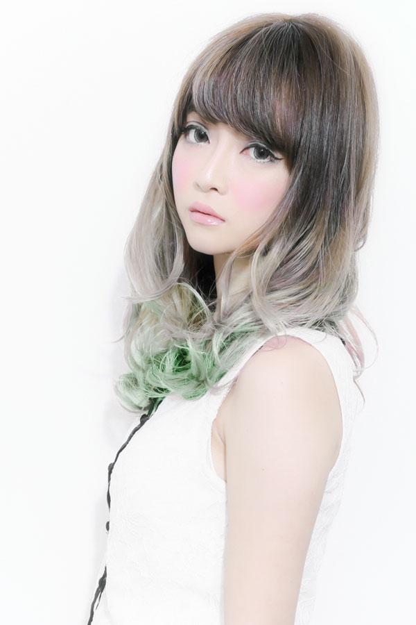 ネオングラデーションカラー4グリーンカラー☆sherry