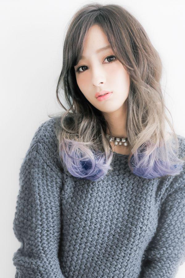 ネオングラデーションカラー3☆ブルーカラーロングsherry