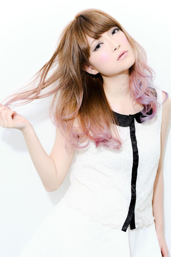 ネオングラデーションカラー2☆ホワイトピンク☆sherry