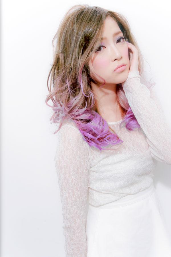 ネオングラデーションカラー5ピンクヘアカラー☆sherry