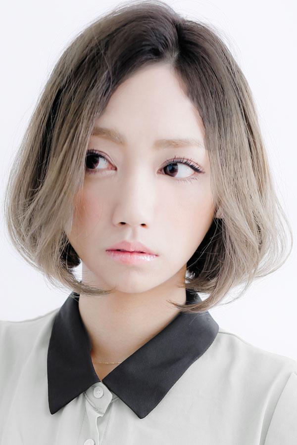 『中間隆宏』クール☆アッシュグラデーションカラーボブ☆