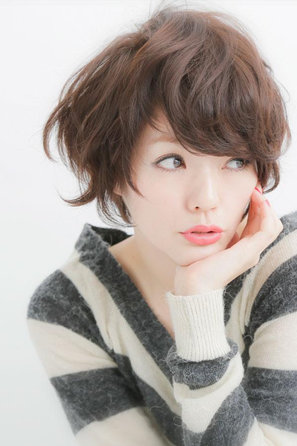 大人可愛い小顔☆黒髪☆ナチュラルショートカット☆